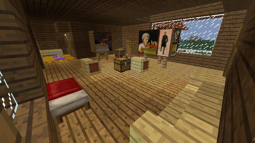 Minecrafterししゃもがマインクラフトでぷっこ村に歴史的建造物のつねのアトリエをアレンジ再現する4