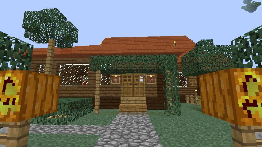 Minecrafterししゃもがマインクラフトでぷっこ村に歴史的建造物のつねのアトリエをアレンジ再現する2