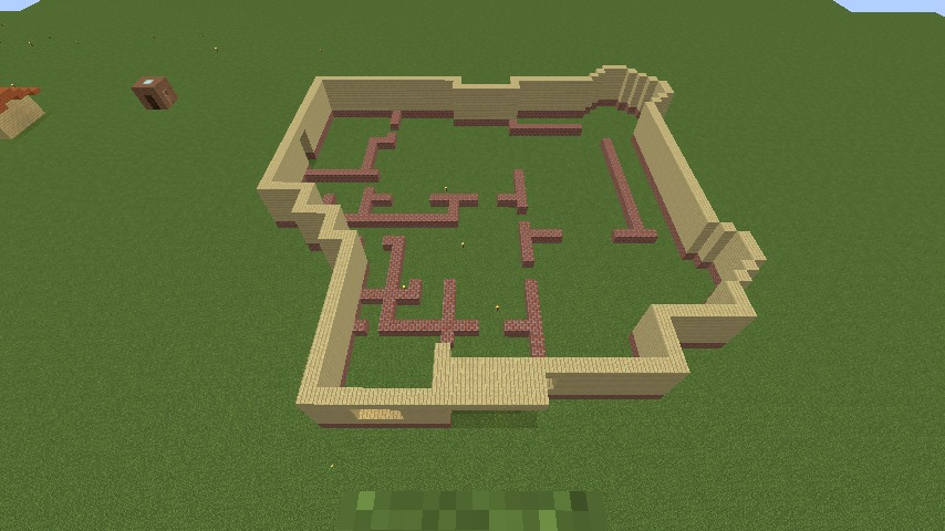 Minecrafterししゃもがマインクラフトでぷっこ村の小高い丘に洋館を建てる3