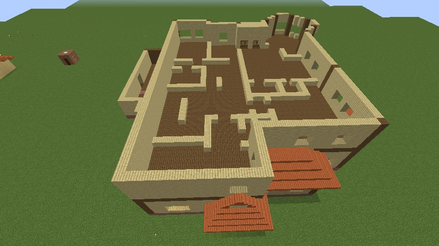 Minecrafterししゃもがマインクラフトでぷっこ村の小高い丘に洋館を建てる4