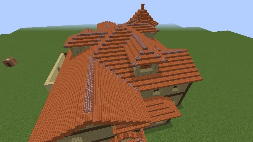 Minecrafterししゃもがマインクラフトでぷっこ村の小高い丘に洋館を建てる5