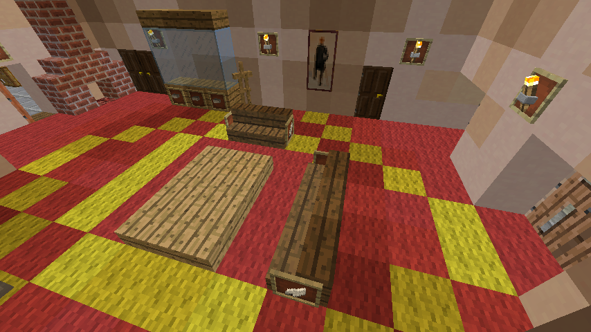 Minecrafterししゃもがマインクラフトでグラバー園内にある歴史的建造物の旧グラバー邸をぷっこ村仕様でアレンジ再現する7