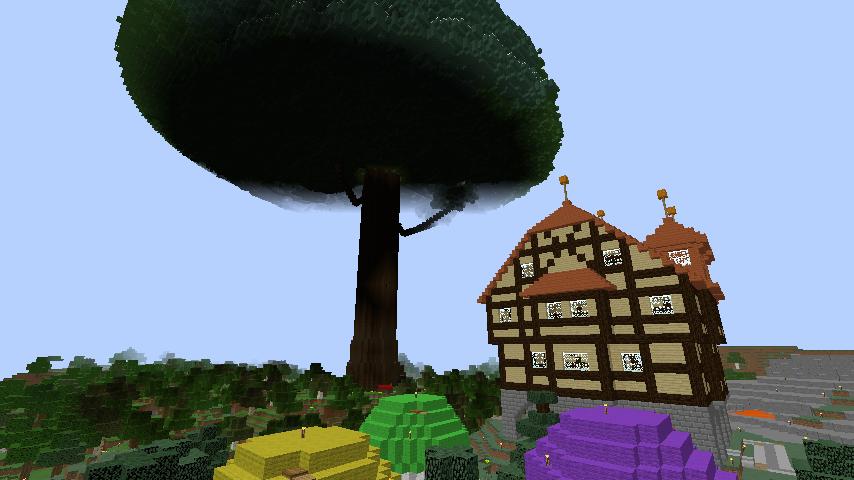Minecrafterししゃもがぷっこ村の外れに魔法使いの弟子たちのキノコの家を建設する5