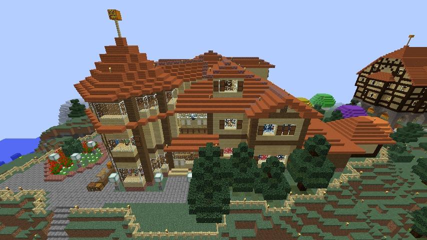 Minecrafterししゃもがマインクラフトでぷっこ村の小高い丘に洋館を建てる7