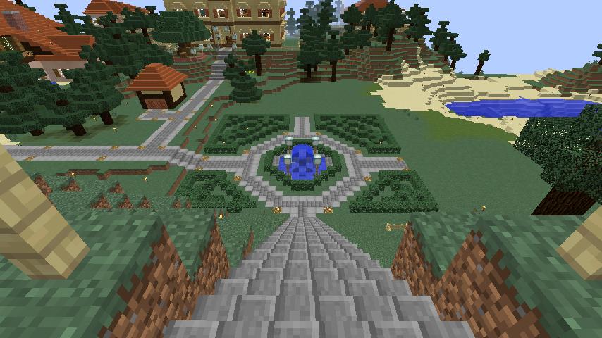 Minecrafterししゃもがマインクラフトでぷっこ村の小高い丘に洋館を建てる12