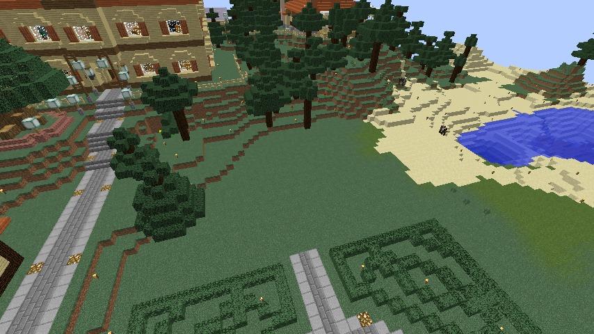 Minecrafterししゃもがマインクラフトでぷっこ村に旧木下建平邸をアレンジ再現して貸しギャラリーにする1
