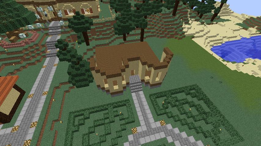 Minecrafterししゃもがマインクラフトでぷっこ村に旧木下建平邸をアレンジ再現して貸しギャラリーにする2