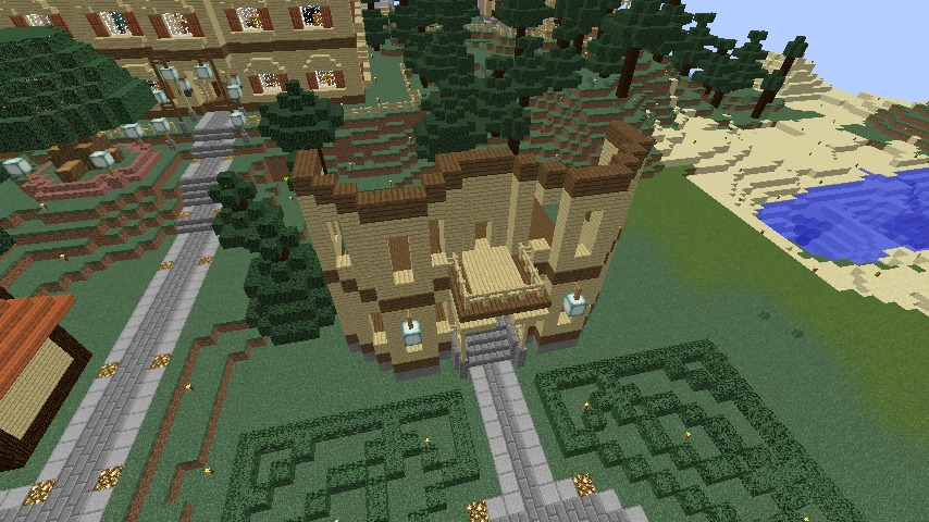 Minecrafterししゃもがマインクラフトでぷっこ村に旧木下建平邸をアレンジ再現して貸しギャラリーにする3