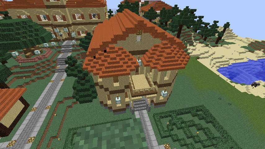 Minecrafterししゃもがマインクラフトでぷっこ村に旧木下建平邸をアレンジ再現して貸しギャラリーにする4