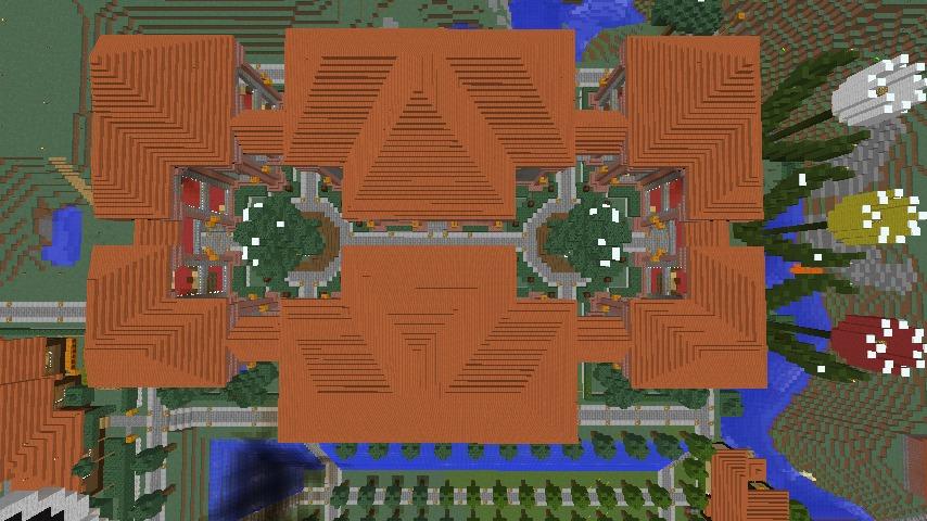 Minecrafterししゃもが、マインクラフトでぷっこ村にマンガ図書館を建設する1