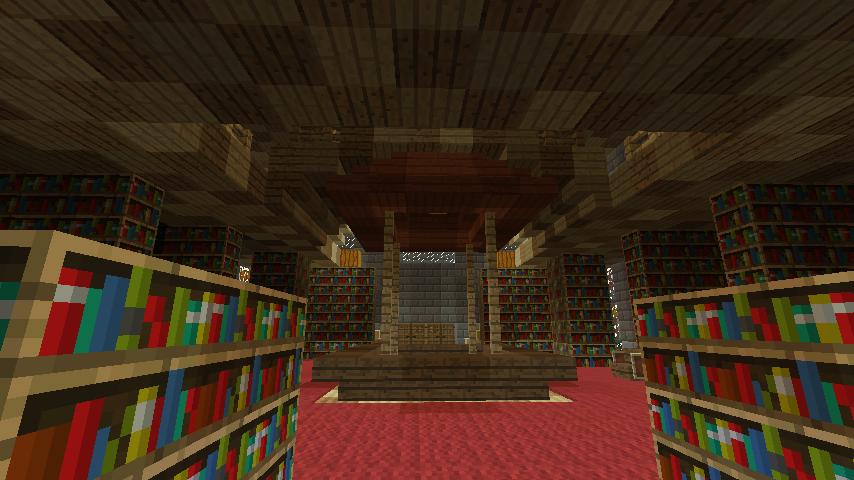 Minecrafterししゃもが、マインクラフトでぷっこ村にマンガ図書館を建設する3