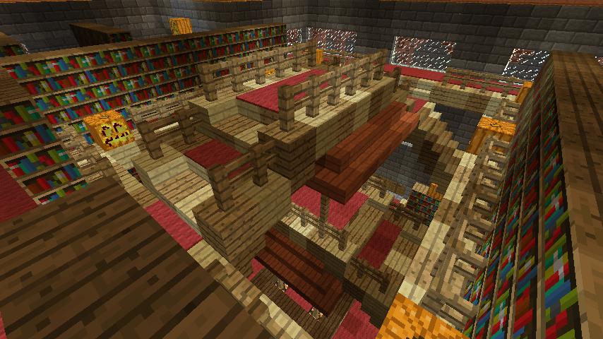 Minecrafterししゃもが、マインクラフトでぷっこ村にマンガ図書館を建設する4