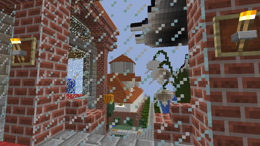 Minecrafterししゃもが、マインクラフトでぷっこ村にマンガ図書館を建設する7