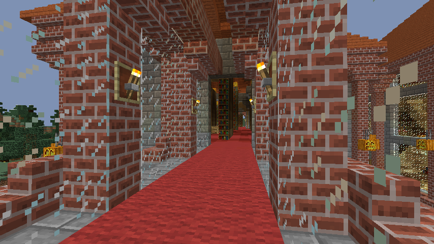 Minecrafterししゃもが、マインクラフトでぷっこ村にマンガ図書館を建設する6
