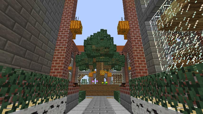 Minecrafterししゃもが、マインクラフトでぷっこ村にマンガ図書館を建設する8
