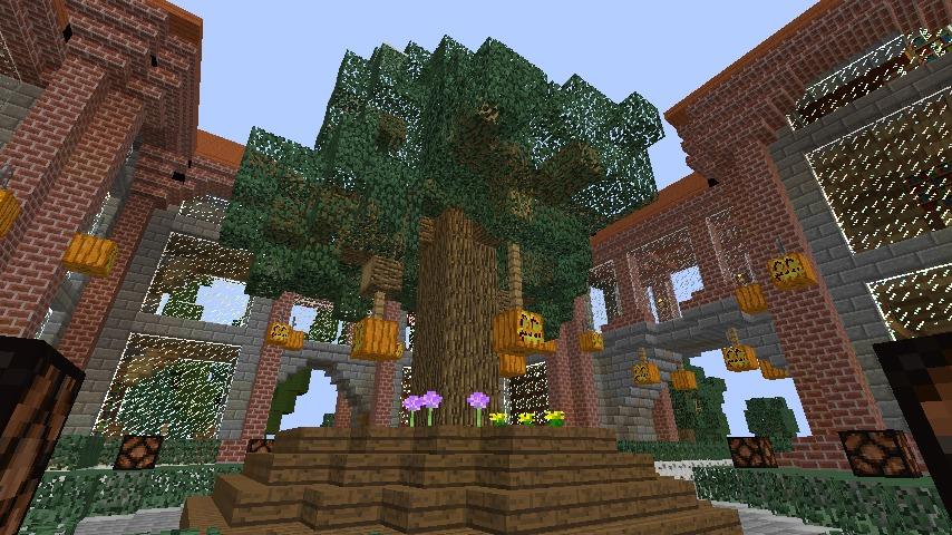 Minecrafterししゃもが、マインクラフトでぷっこ村にマンガ図書館を建設する9