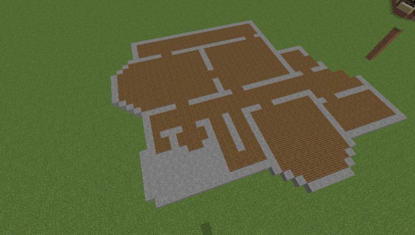 Minecrafterししゃもがマインクラフトでぷっこ村にブラフ18番館を建設し巨大噴水を眺めながらくつろげる観光資源化する1