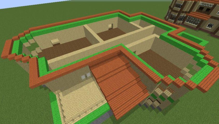 Minecrafterししゃもがマインクラフトでぷっこ村にブラフ18番館を建設し巨大噴水を眺めながらくつろげる観光資源化する5