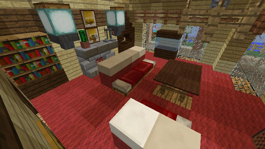 Minecrafterししゃもが、マインクラフトで旧リンガー邸をぷっこ村仕様でアレンジ再現する7