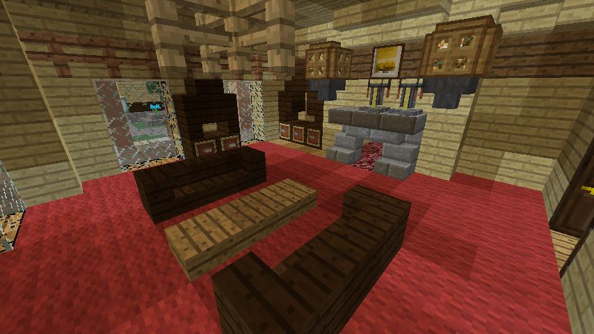 Minecrafterししゃもが、マインクラフトで旧リンガー邸をぷっこ村仕様でアレンジ再現する8