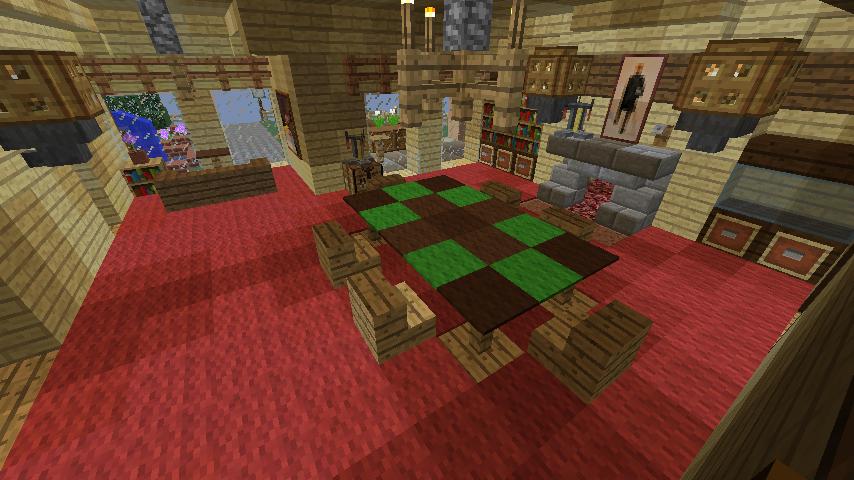 Minecrafterししゃもが、マインクラフトで旧リンガー邸をぷっこ村仕様でアレンジ再現する9