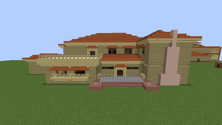 Minecrafterししゃもがマインクラフトで横浜にあるエリスマン邸をぷっこ村に再現して観光振興を図る5