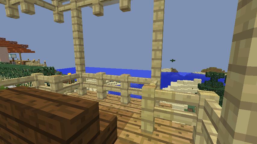 Minecrafterししゃもがマインクラフトで旧ウォーカー住宅をぷっこ村仕様でアレンジ再現する8