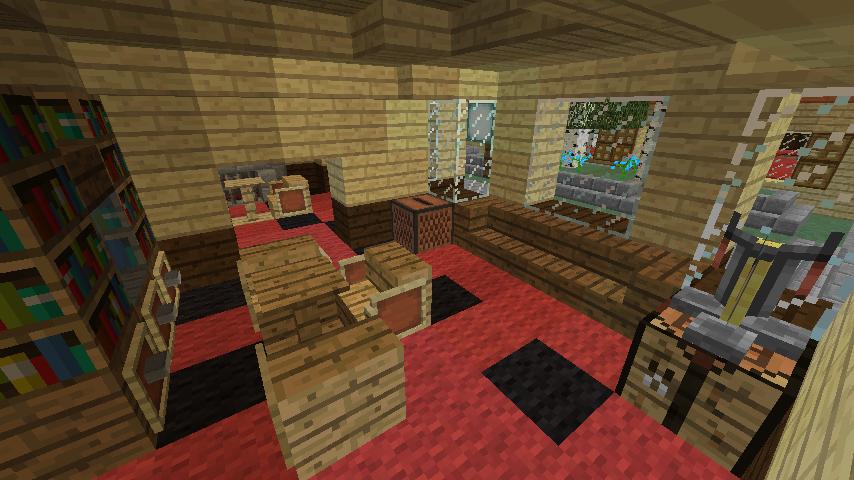 Minecrafterししゃもがマインクラフトで旧ウォーカー住宅をぷっこ村仕様でアレンジ再現する10