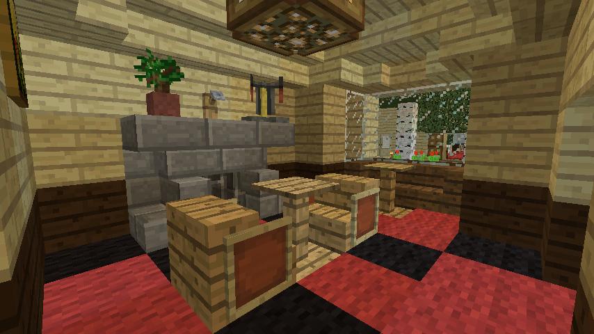 Minecrafterししゃもがマインクラフトで旧ウォーカー住宅をぷっこ村仕様でアレンジ再現する11