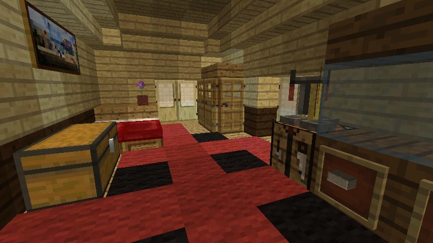 Minecrafterししゃもがマインクラフトで旧ウォーカー住宅をぷっこ村仕様でアレンジ再現する12