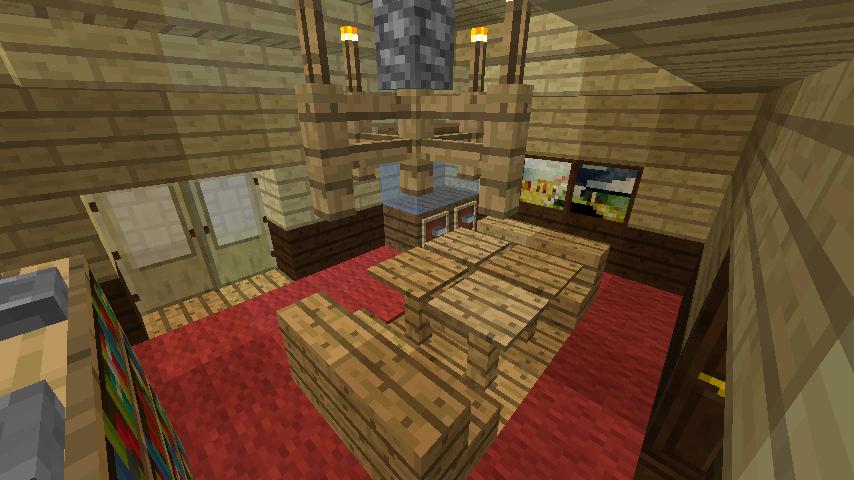 Minecrafterししゃもがマインクラフトで旧ウォーカー住宅をぷっこ村仕様でアレンジ再現する13