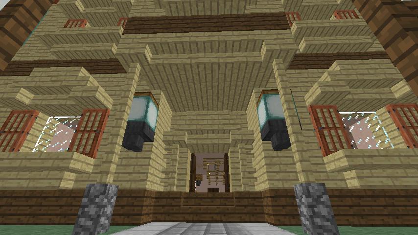 Minecrafterししゃもがマインクラフトでぷっこ村に旧スチイル記念学校をモデルにした学校を建設する1