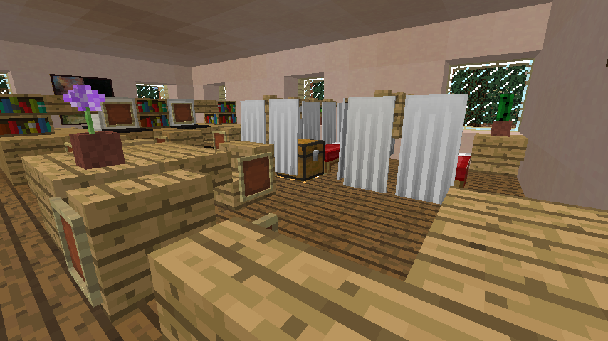 Minecrafterししゃもがマインクラフトでぷっこ村に旧スチイル記念学校をモデルにした学校を建設する5