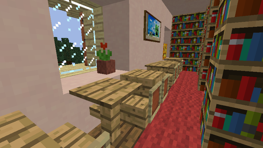Minecrafterししゃもがマインクラフトでぷっこ村に旧スチイル記念学校をモデルにした学校を建設する11