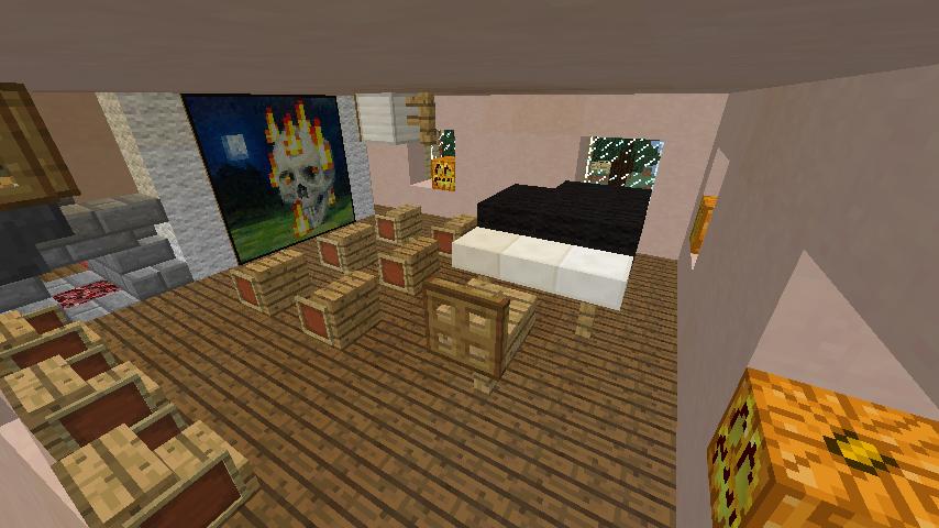 Minecrafterししゃもがマインクラフトでぷっこ村に旧スチイル記念学校をモデルにした学校を建設する12