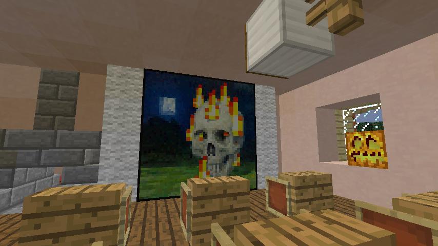 Minecrafterししゃもがマインクラフトでぷっこ村に旧スチイル記念学校をモデルにした学校を建設する14