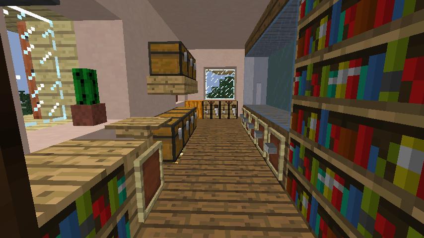 Minecrafterししゃもがマインクラフトでぷっこ村に旧スチイル記念学校をモデルにした学校を建設する8