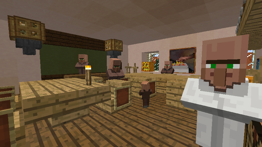 Minecrafterししゃもがマインクラフトでぷっこ村に旧スチイル記念学校をモデルにした学校を建設する7