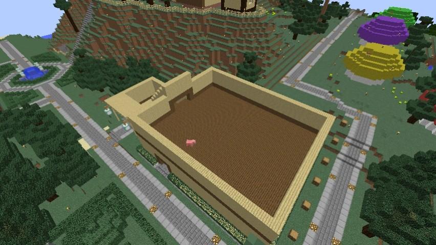 Minecrafterししゃもがマインクラフトでぷっこ村にグラバー園にある旧自由邸をぷっこ村仕様でアレンジ再現する4