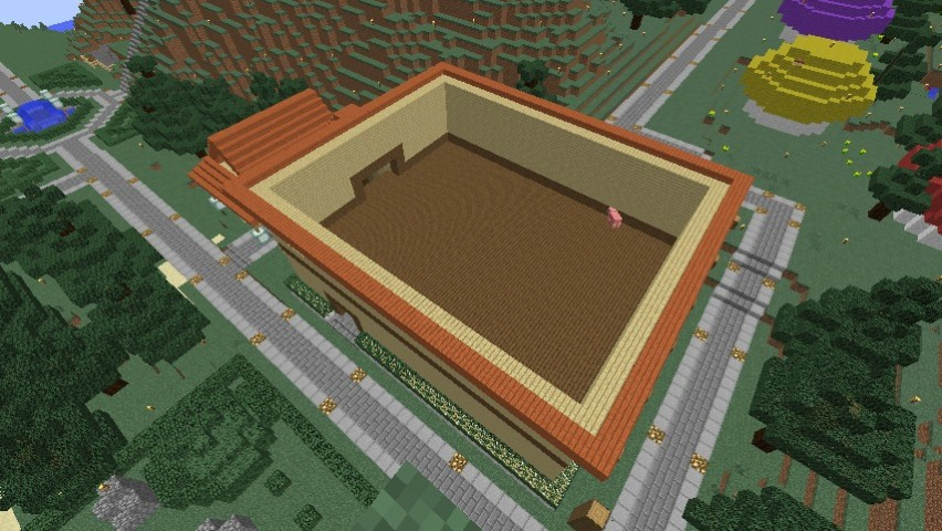 Minecrafterししゃもがマインクラフトでぷっこ村にグラバー園にある旧自由邸をぷっこ村仕様でアレンジ再現する5