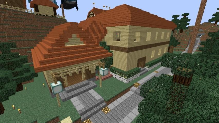 Minecrafterししゃもがマインクラフトでぷっこ村にグラバー園にある旧自由邸をぷっこ村仕様でアレンジ再現する7