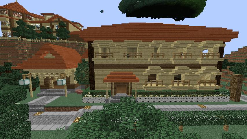 Minecrafterししゃもがマインクラフトでぷっこ村にグラバー園にある旧自由邸をぷっこ村仕様でアレンジ再現する9