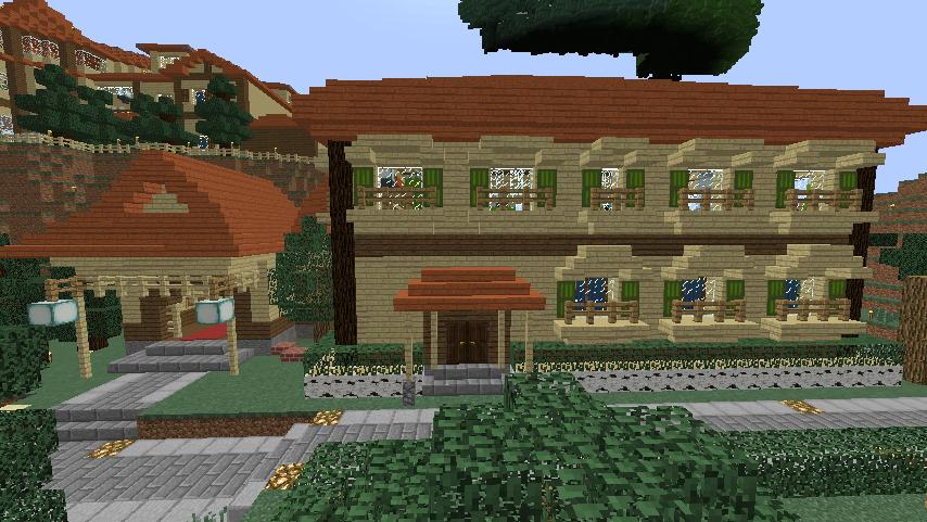 Minecrafterししゃもがマインクラフトでぷっこ村にグラバー園にある旧自由邸をぷっこ村仕様でアレンジ再現する10