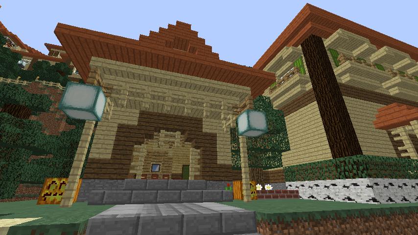 Minecrafterししゃもがマインクラフトでぷっこ村にグラバー園にある旧自由邸をぷっこ村仕様でアレンジ再現する12