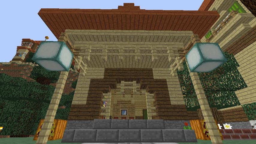 Minecrafterししゃもがマインクラフトでぷっこ村にグラバー園にある旧自由邸をぷっこ村仕様でアレンジ再現する13