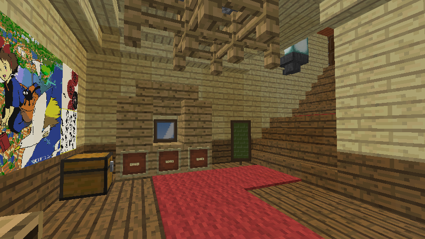 Minecrafterししゃもがマインクラフトでぷっこ村にグラバー園にある旧自由邸をぷっこ村仕様でアレンジ再現する14