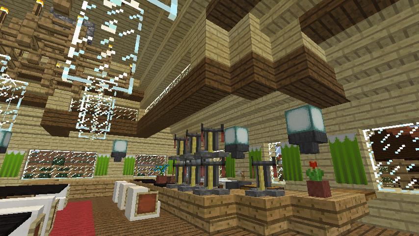 Minecrafterししゃもがマインクラフトでぷっこ村にグラバー園にある旧自由邸をぷっこ村仕様でアレンジ再現する17