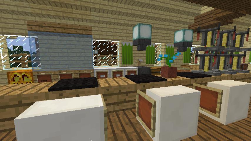 Minecrafterししゃもがマインクラフトでぷっこ村にグラバー園にある旧自由邸をぷっこ村仕様でアレンジ再現する18