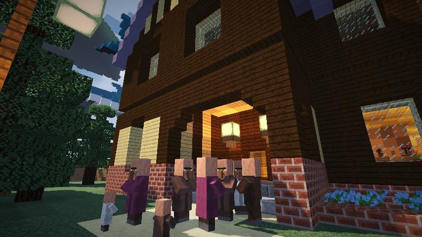 Minecrafterししゃもがマインクラフトでぷっこ村に古我邸旧荘清次郎別荘を再現し茶番を演じる3