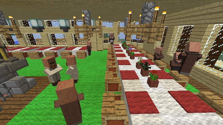 Minecrafterししゃもがマインクラフトでぷっこ村に古我邸旧荘清次郎別荘を再現し茶番を演じる4